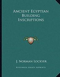 Ancient Egyptian Building Inscriptions