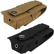 2Pcs Flashlight Molle Bag Torch Belt Holster Holder