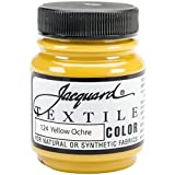 Jacquard Products TEXTILE-1124 Textile Color Fabric Paint, 2.25-Ounce, Yellow Ochre
