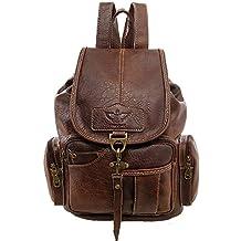Gashen Vintage Backpack Purse PU Leather Shoulder Bag Retro Casual Daypack for Men Women
