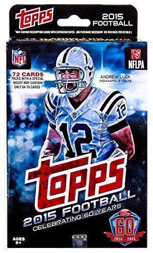2015 Topps NFL Football Factory Sealed Hanger Box with 72 Cards including 13 Rookie Cards per box plus stars and inserts! Possible Rookies and Autographs of Marcus Mariota, Jameis Winston and Many Others