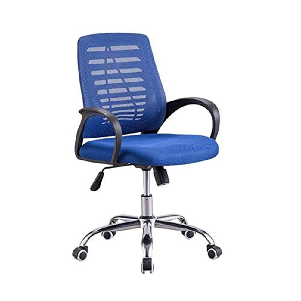 Hxnyz Office Chair Staff Office Chair Simple Modern mesh Office Swivel Chair Home Computer Chair (Color : Blue) (Color : Blue)