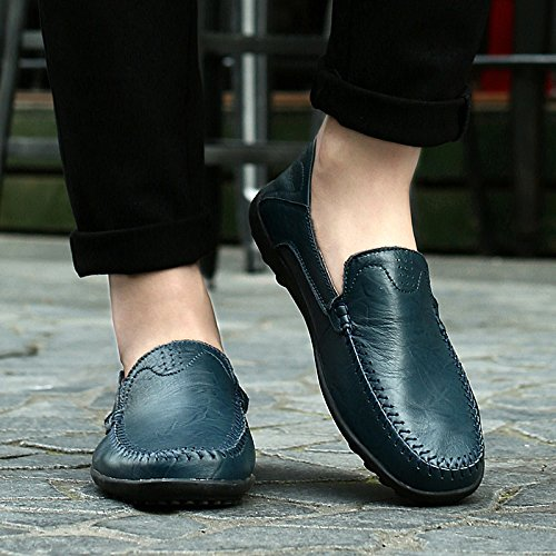 Smart Moccasins CFP Slip Driving Loafers Size Casual 8 Mens UK Stylish For on 8159 Blue 1rx81q0