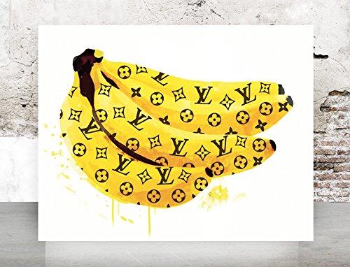 Yellow Dripping LV Bannana Fashion Wall Art Print Poster - Urban Pop Art, French, Vintage, Art Deco 650