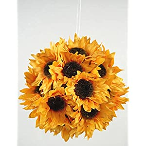 Wayhome Fair Sunflower Ball with Hanger Yellow 7in - Excellent Home Decor - Indoor & Outdoor 38
