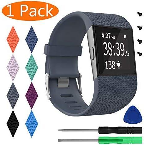 Malla Para Reloj Fitbit Surge (negro, Talle S)