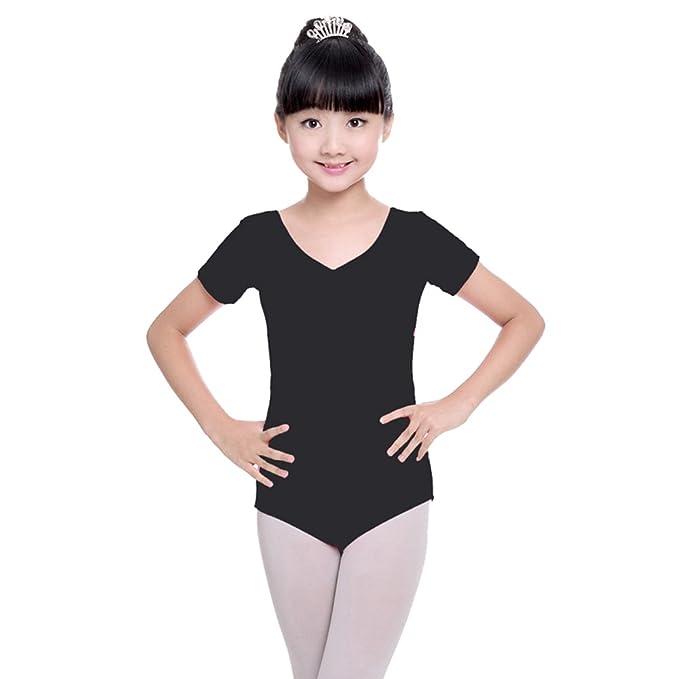 4642ea195758e Amazon.com: XFentech Girls Kids Basic Long Sleeve/Short Sleeve ...