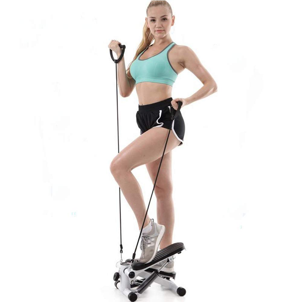 Saying Mini Stepper Stair Stepper Exercise Equipment with Resistance Bands, Under Desk & Stand Up Exercise Device with LCD Display for Home & Office Workout [Ship from USA Directly]