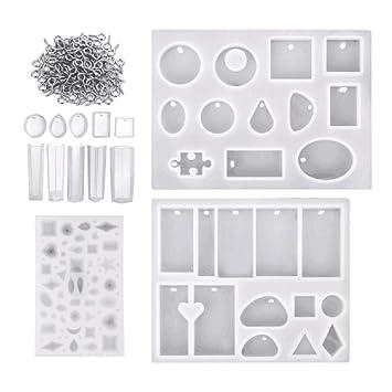 IPOTCH Moldes de Silicona para Fabricación de Bricolaje para Joyería Artesanal: Amazon.es: Hogar