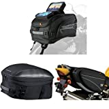 Nelson-Rigg CL-2020-ST Strap Mount Tank Bag,  CL-1060-ST Black Sport Touring Tail/Seat Pack,  and  CL-950 Black Deluxe Sport Touring Saddle Bag Bundle