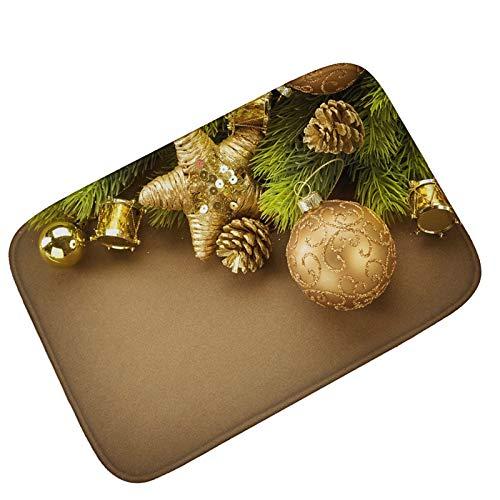 - KnBoB Bathroom Rug Non Slip Golden Pine Needles Style 2 Rug for Door Entrance Indoor 80X50Cm