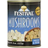 Festival Mushroom Pieces/Stems, Fresh Pack, 8-Ounce (Pack of 12)