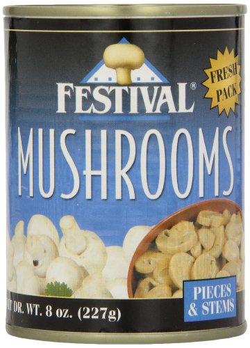 Festival Mushroom Pieces/Stems - Fresh Pack, 8-Ounce (Pack of 12)
