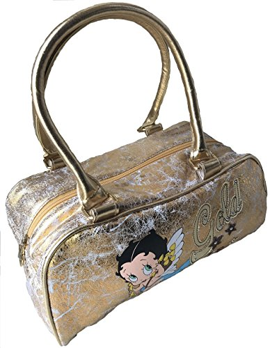 Betty Boop 'Baby Boop' Soft Gold Distressed Look Handbag for sale  Delivered anywhere in USA