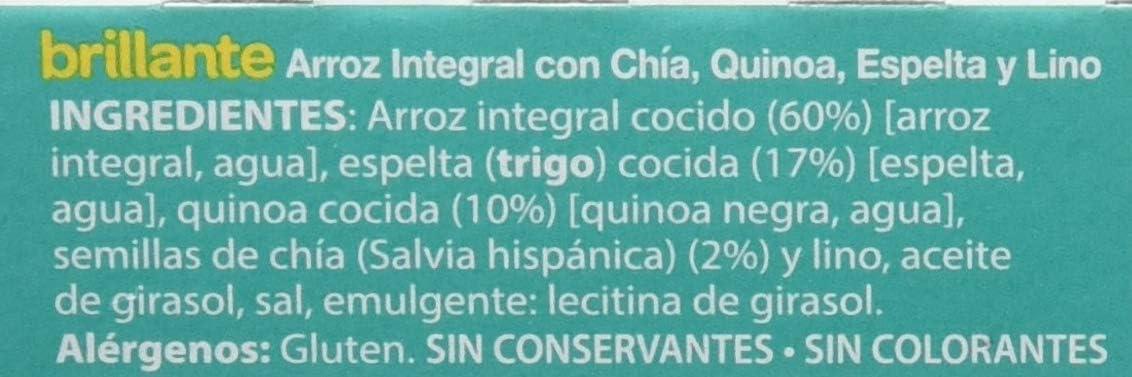 Brillante Arroz Integral Con Chía, Quinoa, Espelta Y Lino 125G X 2 - [Pack De 8] - Total 2 Kg: Amazon.es: Alimentación y bebidas