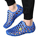 Allywit Mens Women Sandals Shower Water Shoes Beach Swim Pool River Shoes Comfort Garden Water Shoes Blue