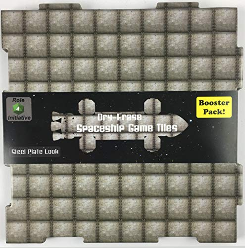 """Role 4 Initiative Dry-Erase Dungeon Tiles, Steel Plate, Booster Pack of Two 10"""" Tiles and Eight 5"""" Tiles"""