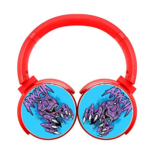 Noise Reduction Wireless Hifi Stereo Bass Over Ear Bluetooth Earphone Foldable Soft Memory Protein Earmuffs For Pc/Cell Phones/Tv 3.5Mm Plug,Print Musical ()