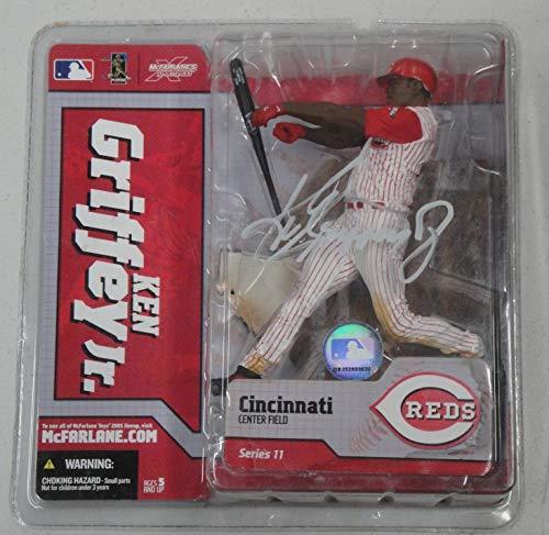 Ken Griffey Jr. Mcfarlane Hand Autographed Signed Figure Cincinnati Reds Memorabilia JSA COA