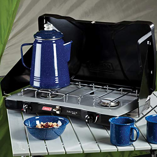 (Coleman Triton 2 Burner Propane Portable Camping Stove Cooking Grill (2 Pack))