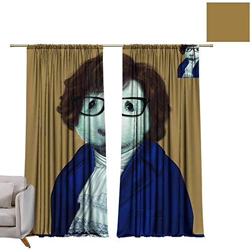 berrly Window Curtain for Living Room Odd costumed Animals, Funny, Cool (4) W96 x L96 Art Darkening -