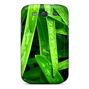 Galaxy S3 Hard Back With Bumper Silicone Gel Tpu Case Cover Water And Leaves