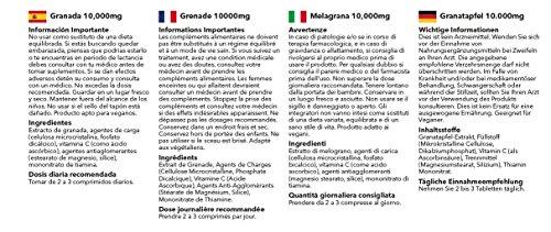 Granada 10000mg – 240 comprimidos – Hasta 8 meses de suministro – Para la salud del corazón y la circulación.