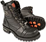 Milwaukee Leather Men's Logger Motorcycle Boot with Laces