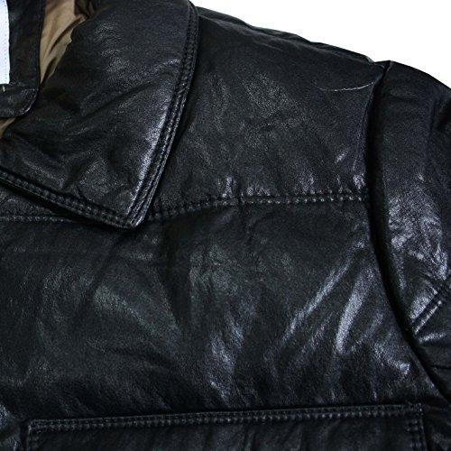 Jacket Black Mens Zip Stylish PU Top nbsp; Lee Warm Down Full Cooper PqwOTEUz