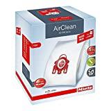 Miele AirClean 3D Efficiency Dust Bag, Type FJM, XL Value Pack, 8 Bags & 4 Filters