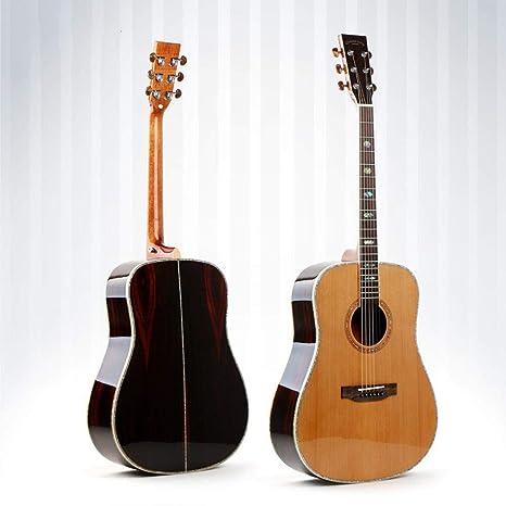 North King Guitarra de Madera Maciza Hecha de balada Pulgadas Guitarra Chapa D-Barril Guitarra