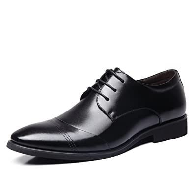Shoes Men's Shoes New Fashion Office & Career/Casual Leather Loafers Black (Color : Black Size : 43)