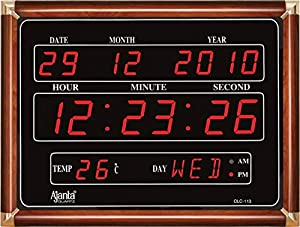 Ajanta Premium Digital Wall Clock (OLC-113 Black)