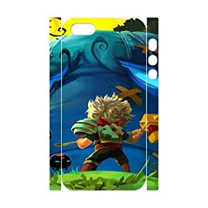 Bastion iphone 5 5s Cell Phone Case 3D White PSOC6002625747128