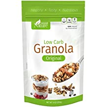 Low Carb Granola Cereal with Whole Almonds - Gluten Free - Sugar Free - Kosher Low Carb Snack 9oz