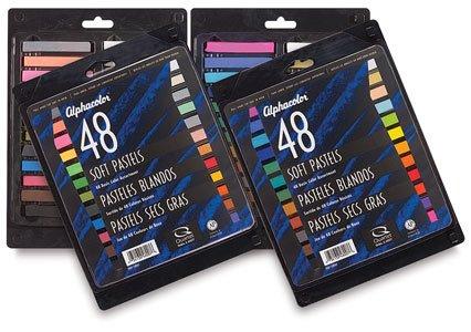 Alphacolor Soft Pastel Set - Basic Colors, Set of 48