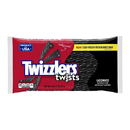 Twizzlers Black Licorice Twists, 16 oz -