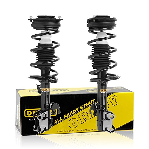 OREDY Front Pair Complete Struts Assembly Shock Coil Spring Assembly Kit 11354 11353 SR4126 SR4127 Fits for 2007 2008 2009 2010 2011 2012 Versa 4CYL FWD
