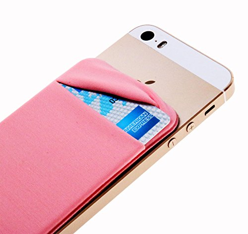 CaseArtPlus Credit Card Secure Holder Stick on Wallet [ Lid ] Discreet ID Holder Lycra Spandex Card Sleeves