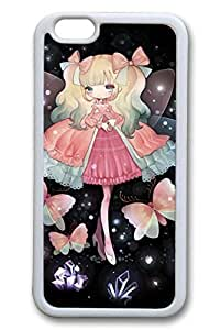 Anime Butterfly Princess Cute Hard For LG G2 Case Cover Case Hard shell White Cases