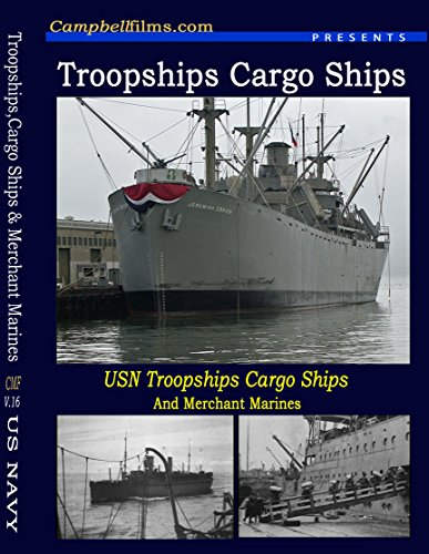 US Navy Troop Ships, Cargo Ships & Merchant Marines old films WW2 Atlantic War DVD -