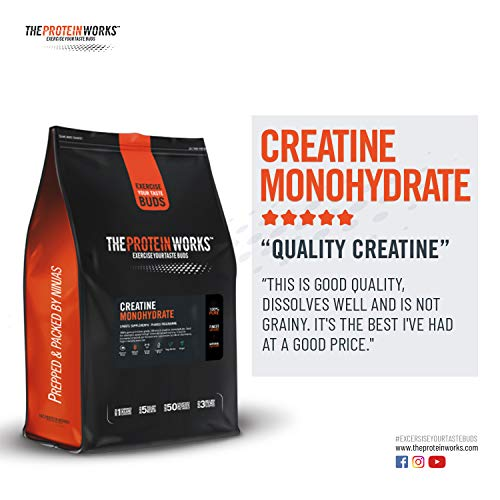 The Protein Works, Creatine Monohydrate, 100% Pure Creatine, Unflavoured - 1 kg by The Protein Works