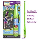 """Walkie Chalk """"Stand Up"""" Sidewalk Chalk Holder - Lime - Outdoor Toy for girls, boys and adults!"""
