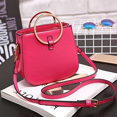 Tote Borsa Signora A Yanx 17 5 9 16 Tracolla Centimetri Red Signore Pu Delle Fashion Rose w8Utp