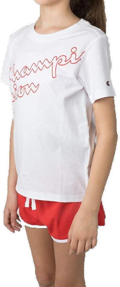 Champion Kids Set Tank Top Shorts Light Cotton Jersey Tee Training Girls 403606W