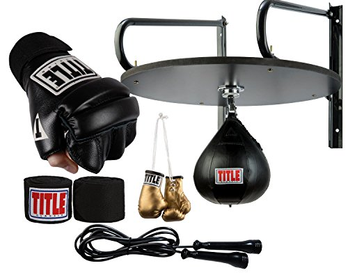 Speed Bag Professional (Title Boxing TITLE Complete Speed Bag Set, Black, Regular)