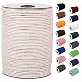 XKDOUS Macrame Cord 3mm x 220Yards, Natural Cotton