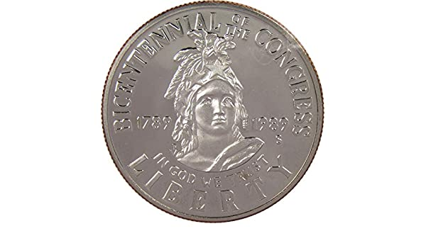 1989-D PCGS MS69 UNC CONGRESS BICENTENNAL Silver Dollar Commemorative low mint