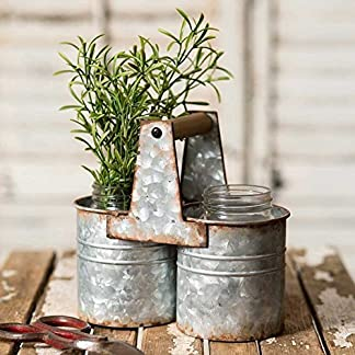 Can caddy with 2 jars - Colonial tin works