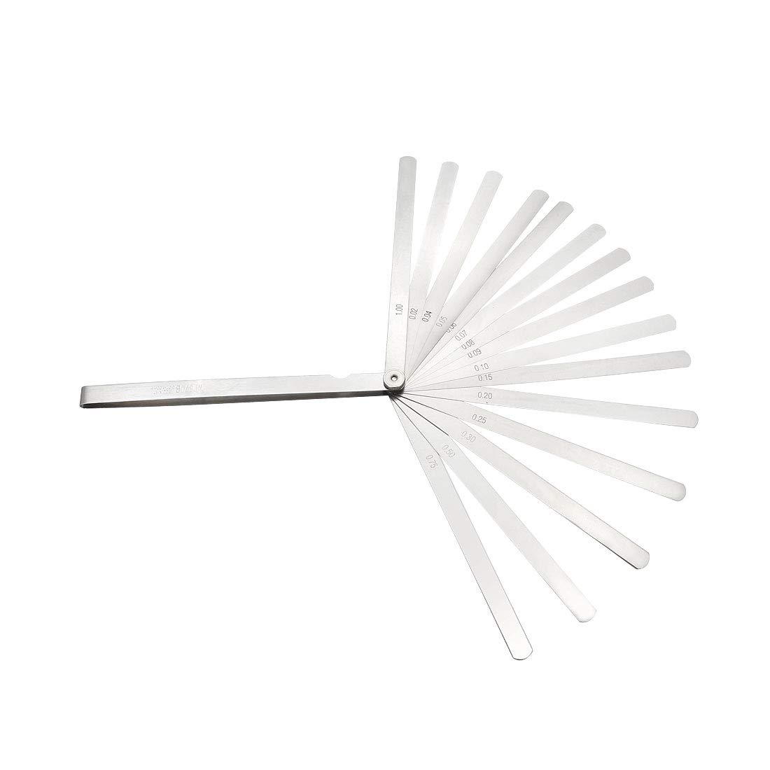 Feeler Gauge 0.02-1.0mm 0.0008-0.04 Inch 32 Pieces Stainless Steel